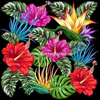 Diamond Painting in 60 Tagen - Tropical Flowers