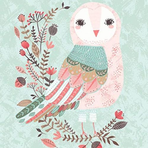 Patchworkstoff Forest Owl 01