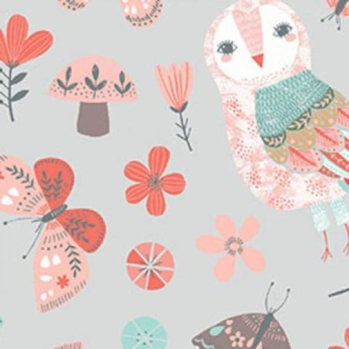 Patchworkstoff Forest Owl 05