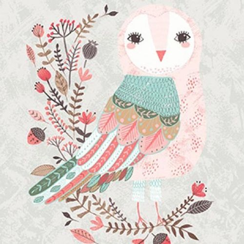 Patchworkstoff Forest Owl 08