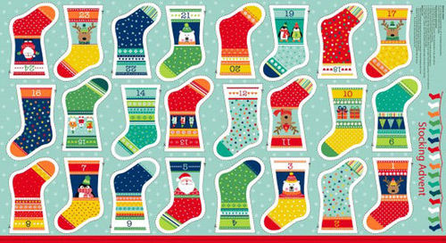Panel Christmas Mini Stocking Novelty