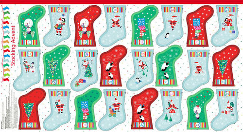 Panel Christmas Mini Stocking Jolly Santa